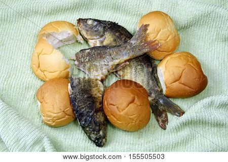 The Five Loaves, And The Two Fishes.