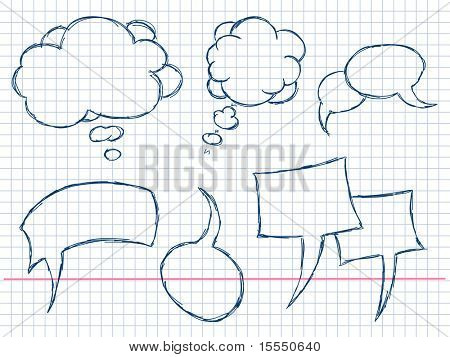 Hand Drawn Speech And Thought Bubbles