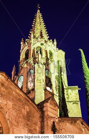 Church in old town of Avignon. Avignon Provence-Alpes-Cote d'Azur France.