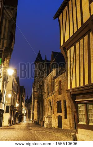 Old architecture of Rouen. Rouen Normandy France