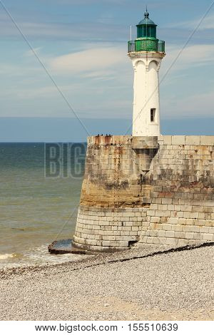 Saint Valery en Caux Lighthouse. Saint-Valery-en-Caux Normandy France
