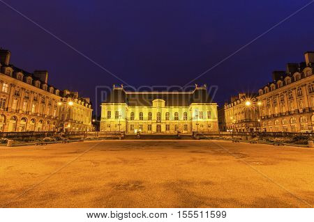 Parlement of Brittany in Rennes. Rennes Brittany France