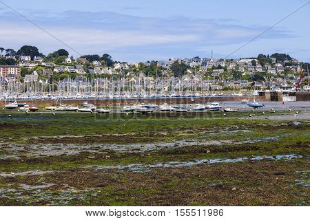 Low tide in Perros-Guirec. in Perros-Guirec Brittany France
