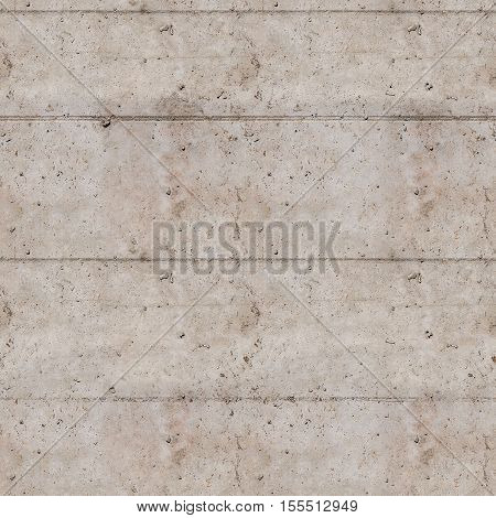 Concrete wall with traces of the formwork background/texture, seamless - can be repeated side by side without seams.