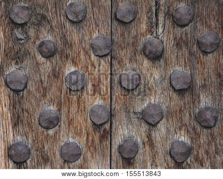 Old wood cracked rusty metal background