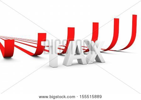 tax in the form of enhancing graphics 3D illustration