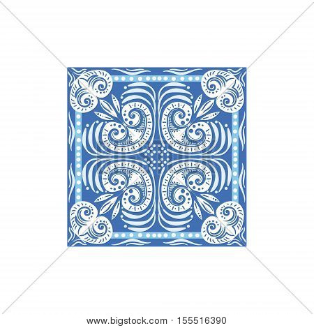 Azulejo Tile Portuguese Famous Symbol. Touristic Well-known Emblems Of Portugal Simple Illustration Isolated On White Background.