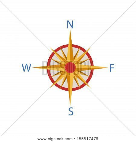 Windrose Portuguese Famous Symbol. Touristic Well-known Emblems Of Portugal Simple Illustration Isolated On White Background.