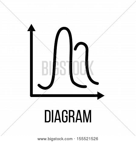 Diagram icon or logo in modern line style. High quality black outline pictogram for web site design and mobile apps. Vector illustration on a white background.