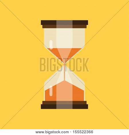 hourglass isolated on white background. Simple sand-glass timer. Sand clock icon vector illustration