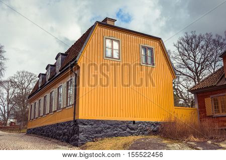 Old house in Sweden. Traditional old House from Sweden at Skansen museum.