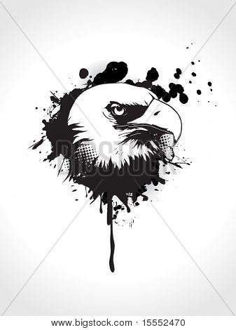 grungy eagle abstract art