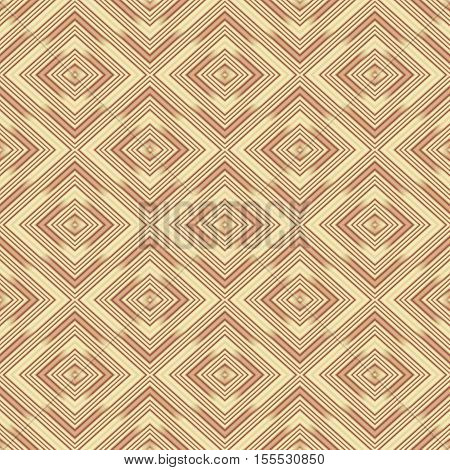 Seamless wall-paper rhombuses beige. A geometrical pattern with bright drawing a background a basis for design.