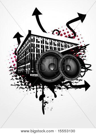 grunge vector music art background