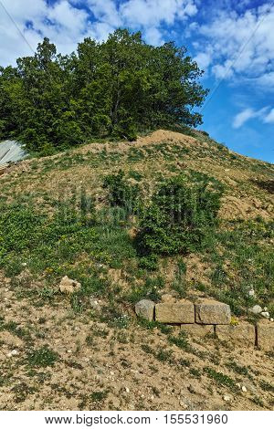 Chetinyova mound in archeological site of Starosel, Plovdiv Region, Bulgaria