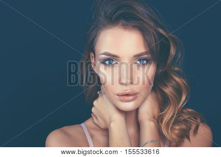 portrait of beautiful delicate woman