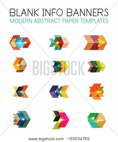 Banners, business backgrounds and presentations infographics templates