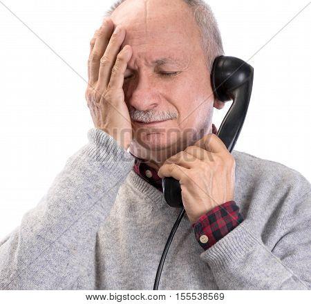 Portrait Of A Senior Thoughtful Man