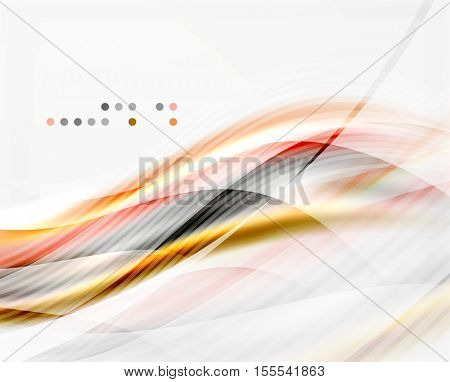 Vector abstract background wave template