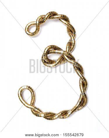 Metal digit. Gold digit