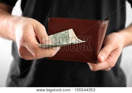 Man counting money, closeup