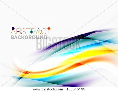 Abstract background, colorful shiny blurred lines with light effects