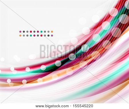 Vector abstract background template - wave