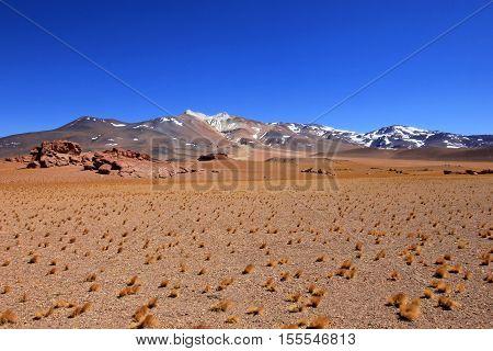 Beautiful landscape and mountains, Atacama desert, near Paso Sico, Chile
