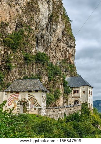 Hochosterwitz Castle is considered to be one of Austria's most impressive medieval castles Carinthia Austria. Gate