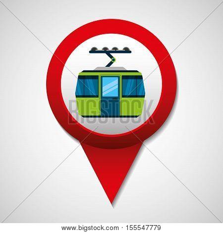 tram transport coveyance icon vector illustration design
