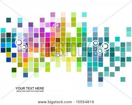 vektör renkli mozaik desen tasarım