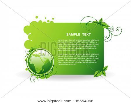 vector green earth background illustration poster