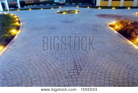 Paved Yard And Lights