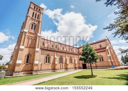 Kampala, Uganda- April 3, 2016: St. Mary's Catholic Cathedral on Rubaga Hill Kampala Uganda