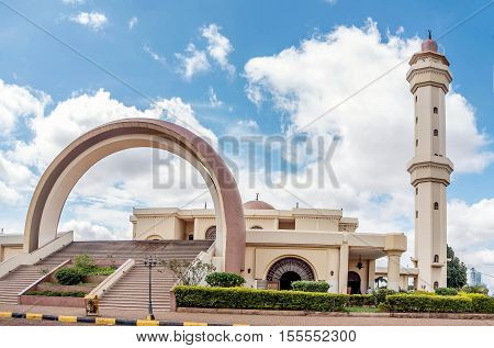 Kampala, Uganda- April 3, 2016: Gaddafi Mosque in Kampala city Uganda