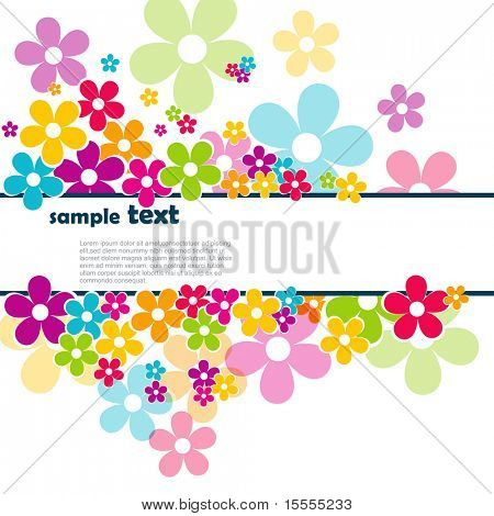 schöne Vektor Blumen mit Platz für Ihren text
