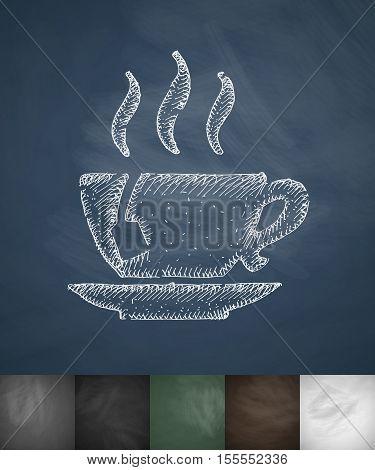 tea icon. Hand drawn vector illustration. Chalkboard Design