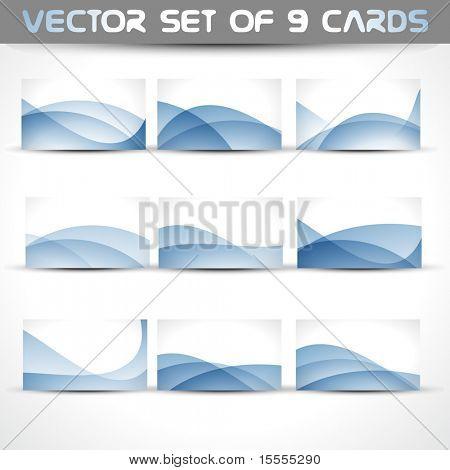 conjunto de vetores de 9 cartões de visita