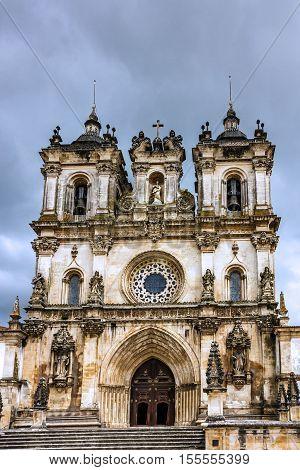 Alcobaca monastery is a Mediaeval Roman Catholic churchy,  Portugal