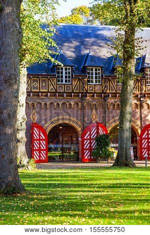 Economic castle courtyard 'De Haar', in the province of Utrecht, the Netherlands