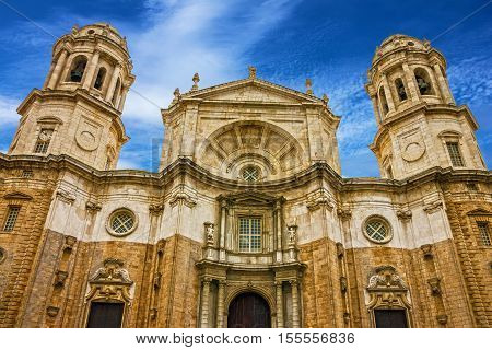Cadiz town, Spain. Cupola of Cathedral church.