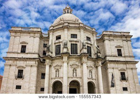 Lisbon city, Portugal. National Pantheon church building
