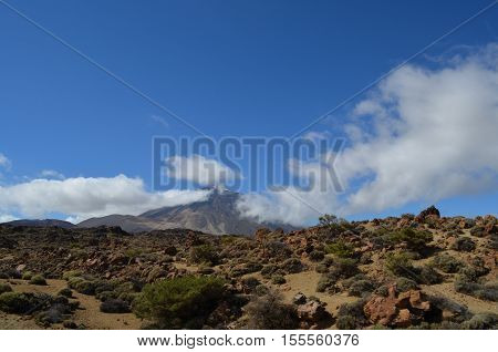 The vulcano El teide on Tenerife, Canary Island