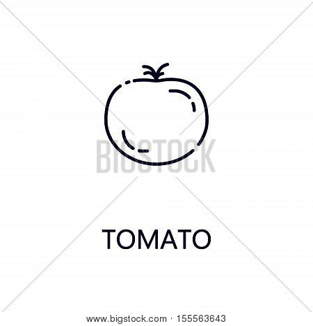 Tomato flat icon. Single high quality outline symbol of vegetable for web design or mobile app. Thin line signs of tomato for design logo, visit card, etc. Outline pictogram of tomato.