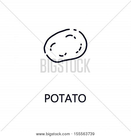 Potato flat icon. Single high quality outline symbol of vegetable for web design or mobile app. Thin line signs of potato for design logo, visit card, etc. Outline pictogram of potato.