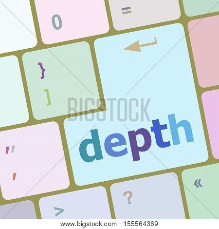 Keys With White Color Keyboard, Depth Text On It