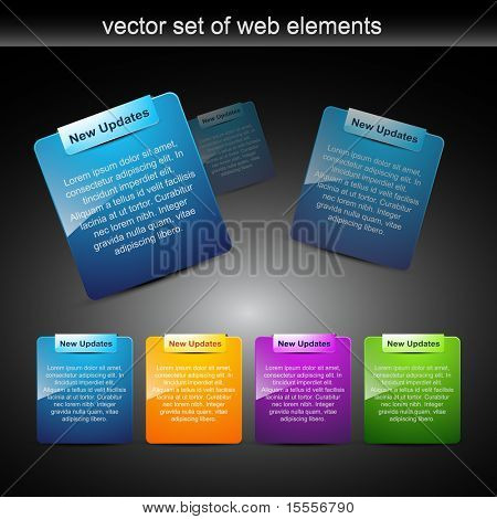website elements design elements label