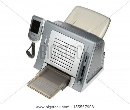 Thermal Dye Sublimation Printer Isolated On White