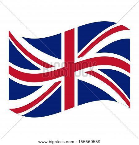 United kingdom flag icon. London uk landmark tourism and england theme. Isolated design. Vector illustration