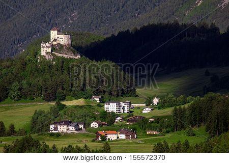 Amazing mountain views from Tarasp village, Switzerland
